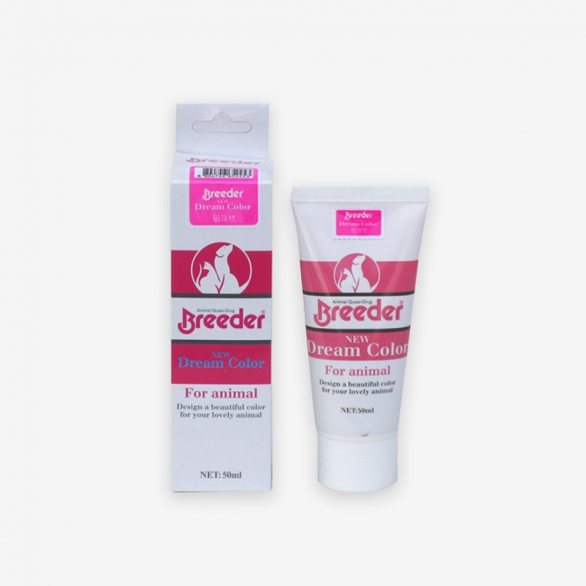 브리더 강아지 염색약 뉴드림칼라(50ml)-핑크