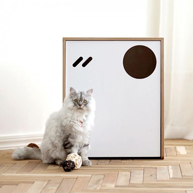 스탠다드 복층 고양이 원목화장실 (White)