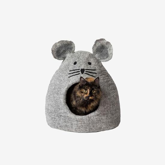 다르마독 카르마캣 생쥐 모양 하우스(Light Gray)