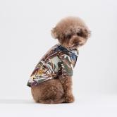 스니프 타이거 프린트 셔츠 (카키)