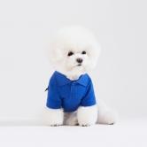 스니프 피케 티셔츠 (블루)