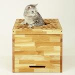가또블랑코 로블레 고양이 원목 화장실